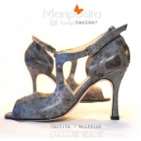 Mariposita Bruidsschoenen model Carlita in Wolffish leather